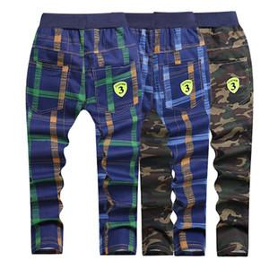 Garçons Filles Vêtements Pantalons Mode rayé Plaid Casual Wear enfants Pantalons 5-10 Y Enfants Qualité Vêtements Hot Vente LJ200819