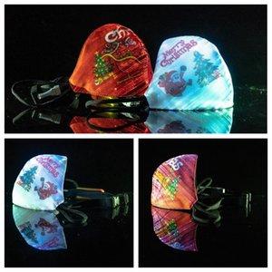 عيد الميلاد مضيئة قناع 7 تغيير الألوان قناع متوهجة LED الوجه لجميع القديسين حفلة تنكرية أقنعة الهذيان مصمم CCA12512