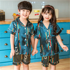 Paar Pyjama Set Damen Herren aus Seide und Satin-Pyjama-Set Paare Langarm Blume gedruckt Nachtwäsche Homewear Pj Unisex Pyjamas Plus Size M-3 # 991