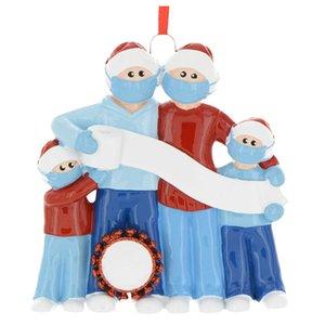 Visage Bouclier Père Noël famille Portraits Ornements Décorations de Noël arbre Pendentif main cadeau personnalisé Artefact 2020 9JS F2