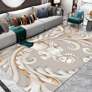 European Noble Goddess Carpet Printed Flannel Area Rug Room Floor Printed Carpet For Living Room Bedroom Home Decorative Crapet