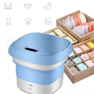Mini Folding Washer Portable Travel Washing Machine PP Outdoor Travel Camping Underwear Cleaner Machine 2styles SEA SHIPING RRA3594