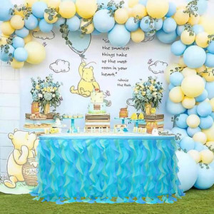 Tableskirt Decoration Tulle Tabella di vimini Gonna Wedding Decoration Mesh Birthday Party Hotel Banquet Table Skirt