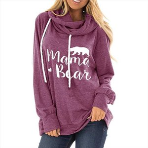 2020 Spring Women Hoodies Loose Cotton Pullover Hoodie Mama Bear Letter Print Sweatshirt Casual Hoody Ladies Autumn Winter Tops