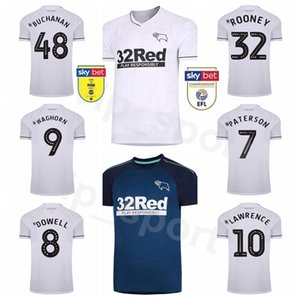 20 21 Derby County KNIGHT Soccer Jersey MARTIN ROONEY HOLMES MARRIOTT SABEDORIA DOWELL PATERSON Waghorn LAWRENCE BOGLE Futebol shirt Kits