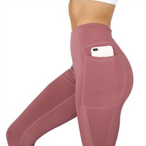 Women Fitness Leggings High Waist Pocket Mesh Comfortable And Breathable Legging Workout Leggings Feminina Jeggings