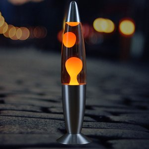 Классический серебряный -На Lava Lamp Фабрика прямых продаж 13 дюймов Металл Bottom Wax лампа Творческий Декоративные медузы Lava Lamp