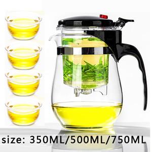 Высокое качество жаростойкий стеклянный чайник Китайский Кунг-фу Чайный сервиз пуэр чайник кофе стекла чайник Удобный офис Tea Pot