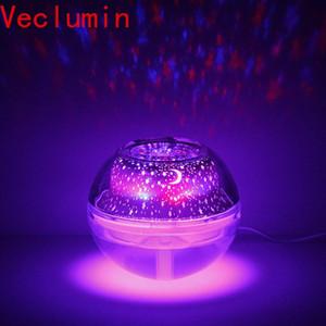 Creative LED Crystal Night lumière Projection Humidifier Huile essentielle Diffuseur Aroma Lamp USB DÉSODORISANT brumisateur lM7V #