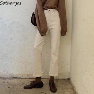 Jeans Frauen-Denim-New-coming All-Gleiche schmalere Bleistift Hose Frauen koreanische Art Students Damen Chic Einfache High Waist Täglich