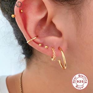 Romad 100% 925 Sterling Silver Hoop Earrings Crystal Zircon Multicolor Huggie Earrings For Women Fine Jewelry pendientes W4
