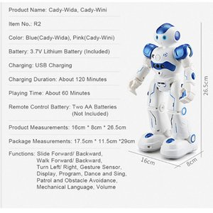 Control de cumpleaños del robot remoto inteligente inteligente Rc del regalo La Biped niños de juguete del Humanoid del perro Y200428 mascotas Programación bdetoys bbyqW