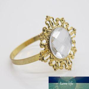 New Gold-Clear Bague langes pour Mariages Party Hôtel Banquet Dîner Décor 1-50