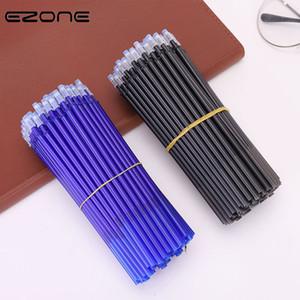 60PCS effaçable Pen E-Zone Recharge Blue / encre noire magique effaçable stylo étudiants Stylos remplacement de capacité d'écriture de l'encre
