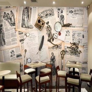 Dropship Fatman Wallpapers Home Decor English Newspaper Wallpaper Vintage Living Room 3d Wallpaper Murals Papel De Parede 3d