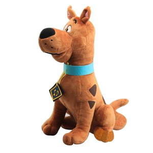 35cm High Quality Soft Cute Scooby-Doo Great Dane Scooby Doo Dog Cute Dolls Stuffed animal Plush Toy New Christmas Gifts MX200716
