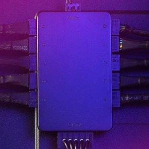 4 pines PWM cubo del ventilador que cuidan Computadoras SATA Powered 10 puertos máquinas de oficina para la caja de la PC del ordenador Chasis ventilador de refrigeración