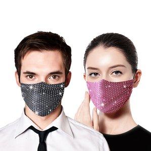 Diamant wiederverwendbare Breath Dekoration Bling Designer Gesicht für Partei-Sommer-Sonnenschutz Schutz Thin Section Maske Dhb855
