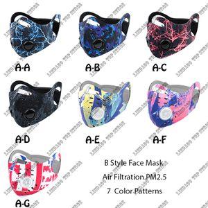 Nueva MASCARILLA Activado Máscaras anti-contaminación de Protección de arte al aire libre Hombres Mujeres Anti-polvo de la máscara de la gotita de cara con filtro para completar un ciclo