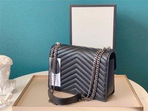 YSLClassic rhombus chain leather shoulder bags Designer brand Handbag metal silver chain Genuine Leather bag Flip cover Shoulder Bags