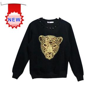 Korean Fashion Gold Tiger Head Print Hoodie Women Men Loose Long Sleeve T Shirt 3D Pullover Sweatshirt Space Tops