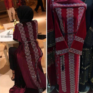 Fashion new diamond Inlaid Mubarak Dubai Femme Turkish Luxury Hijab Muslim Dress African Abaya For Women Kaftan islamic Clothing