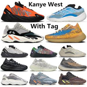Kanye West 700 700s 380  azul Kanye West 700 para hombre de los zapatos corrientes de inercia Vanta 700s estático Mujeres corredor de la onda de malva zapatillas de deporte 5-12