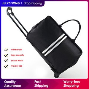 Song julho Homens sacos de bagagem Trolley Travel Bag Com rodas de rolamento Carry na mala de viagem saco com rodas Mulheres Bolsas 200921
