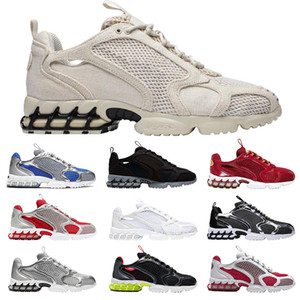 zoom spiridon caged 2020 mens running shoes Metallic Silver Black Triple White Pure Platinum men womens trainer chaussures sports sneakers