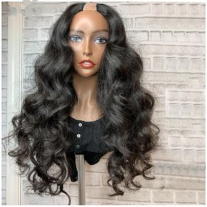 Magic Love 180% Density U Part Wig Human Hair Wigs Body Wave Remy Brazilian U Part Human Hair Wigs for Women