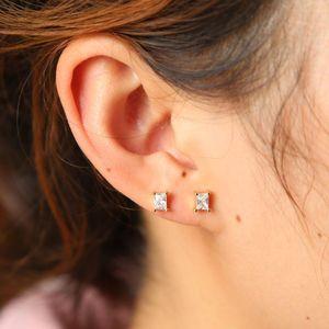 2020 Hot Selling Kate Classic Mini Square Opal cute Dot Stud Earrings Gold Fashion delicate cz Women New York Jewelry wholesale