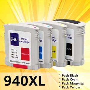 çipli 940XL C4906A C4907A C4908A C4909A için Officejet Pro 8000 8500 Uyumlu Mürekkep Değiştirme INK 4Pack
