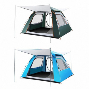 Automatic Outdoor Camping Tent Durable Waterproof Family Large Tents 3 4 Person Easy Setup Tent For Beack Garden Fishing fDCM#