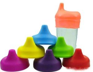 جديد سيليكون سيبي الغلاف اغطية FDA الصف سيليكون لينة مرونة Siut للأطفال القدح كأس زجاج سيليكون ماصة كاب
