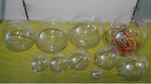 40pcs 4/5/6 см Романтический дизайн Новогодние украшения Болл Transparent можно открыть пластиковые Clear безделушка украшения подарков Present xYHA #
