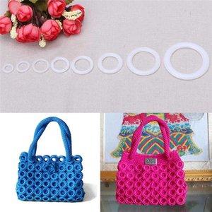 Plastic DIY Crochet Ring Circle Hook Craft Tool Accessory for Handbag Car Seat manual Handbag material plastic ring hook