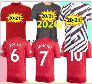 Manchester 2020 2021 united UTD SANCHO BRUNO FERNANDES RASHFORD Soccer Jersey Football Jerseys Shirt 20 21 man + kids kit