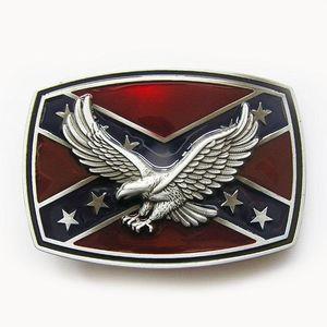 Cgjxs New Vintage Мужчины Пряжка Эмаль 3d Eagle на флаг конфедератов Rebel Пряжка Gurtelschnalle букле De Ceintu Пряжка -3d047 Free S
