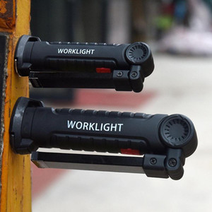 MeterMall Portable Bright COB LED Lights USB Charging Magnet Lamp Red Light Emergency
