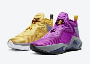 Lebrons 14 soldats Lakers Hommes Femmes Chaussures de basket-ball avec James préférées soldats XIV Blanc Violet Jaune Rouge Blanc Sport Chaussures Taille 4-12