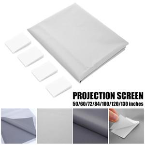 Projetor Universal tela reflexiva aumentar a luminosidade 100 / 120inch pano de tecido de tela de projeção portátil para CP600