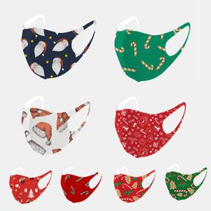 natal máscara facial moda máscaras de Natal Árvore de Natal máscara de impressão adulto estrela 3d O mesmo tecido de malha máscara de gelo algodão de seda