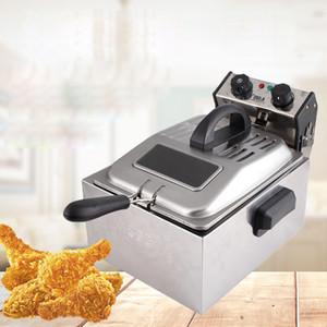 Çift Paslanmaz Çelik Fritöz 2x6L Çift Fritöz Fırın Fried Chicken Cips Çift Fritözler Makinası