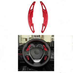 2PCS GSD For BMW M2 M3 M4 M5 M6 X5M Steering Wheel Shift Paddle Shifter Extension aluminium alloy (red)