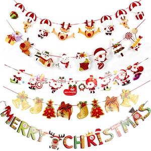 Weihnachten Pull-Flagge Weihnachts Bunting Fahnen Flaggen Weihnachtsdekoration für Haus im Freien Garten-Shop Partei-Weihnachts Banner Flag Pulling FWC2322