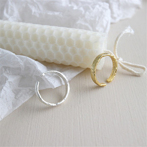Fashionable Opening Irregular Wide Ring Europe Handmade Concave Convex Irregular Rock Open Wide Ring For Women New