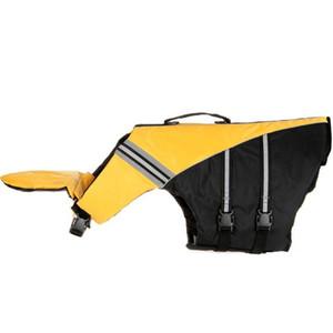 Dog Life Jacket Tamanho ajustável Dog Life Preserver Durable Vest Buoyant Lifesaver Tamanho XS (amarelo)