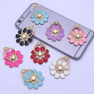Flowers Chrysanthemum Finger Ring Grips Holder Universal Brackets 360 Degree Rotation Kickstands Adjustable Stents for Cell Phone and Tablet