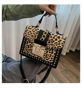 Fashion Leopard Messenger Bags for Women Brand Decoration Ladies Party Handbags Purses Leather Small Shoulder Hand Bag