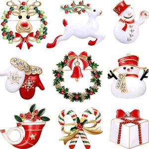 Buon Natale Spille spille carino guanti cappello di Babbo Natale Bells calzini Donuts Candy smalto Pin Spilla Badge